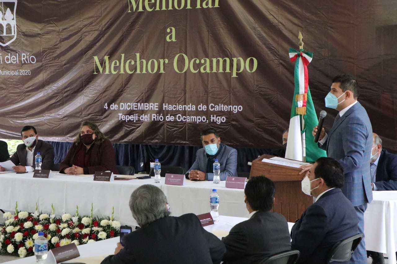 Octavio Ocampo convocó mantener vigente el legado de Melchor Ocampo. Noticias en tiempo real
