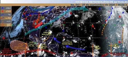 Se tendrá cielo nublado y lluvias fuertes en Michoacán. Noticias en tiempo real