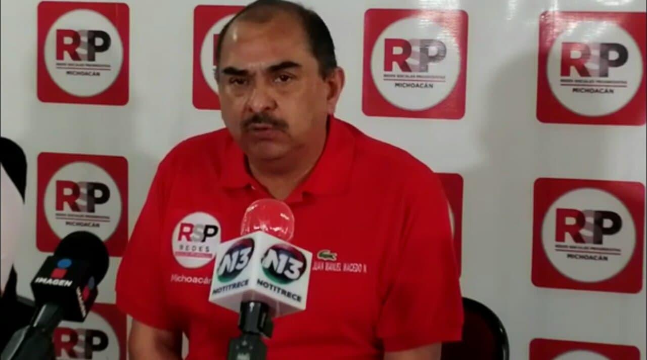 Ser el candidato gubernamental de RSP es sólo